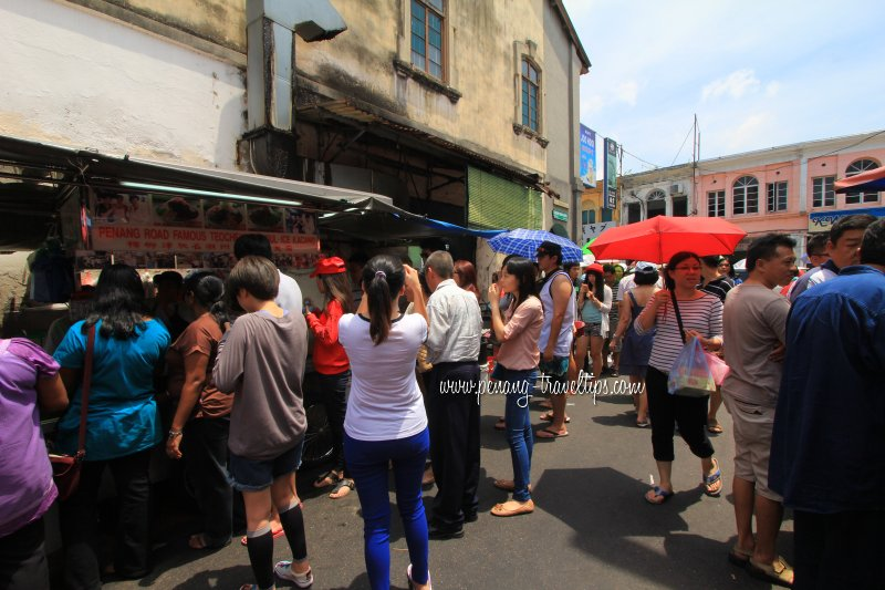 Keng Kwee Street on a public holiday