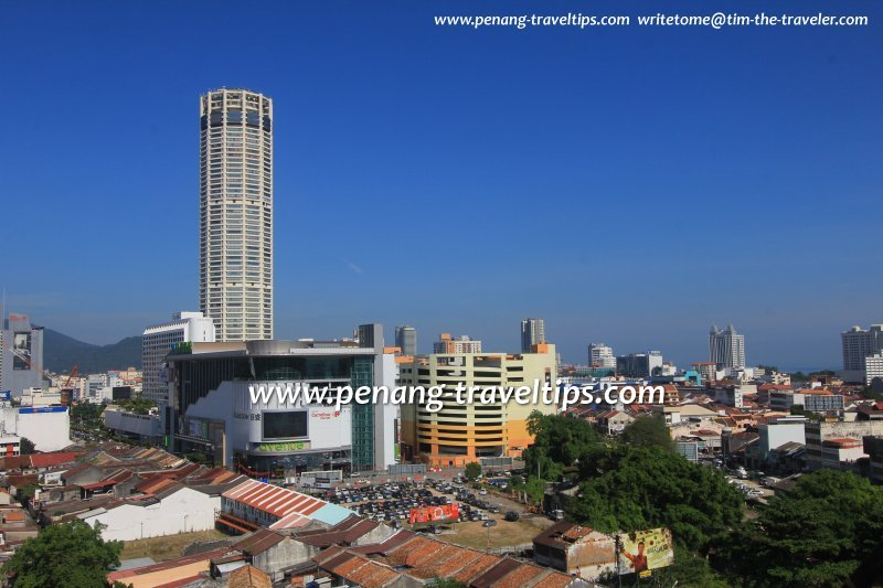 Komtar, with 1st Avenue Mall and Prangin Mall