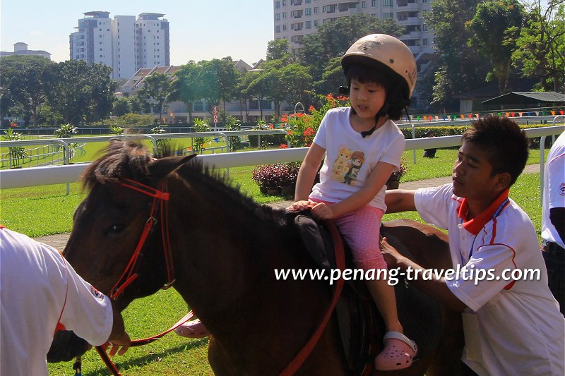 Learning to ride, Penang Turf Club