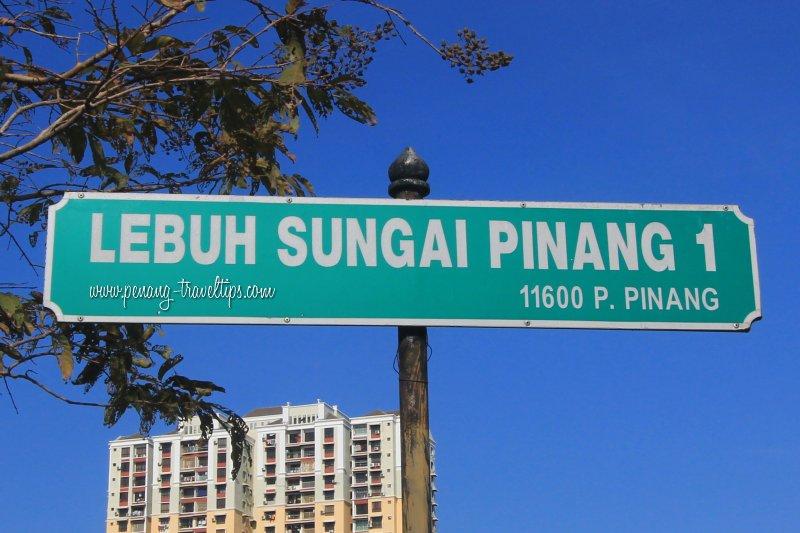 Lebuh Sungai Pinang 1 road sign
