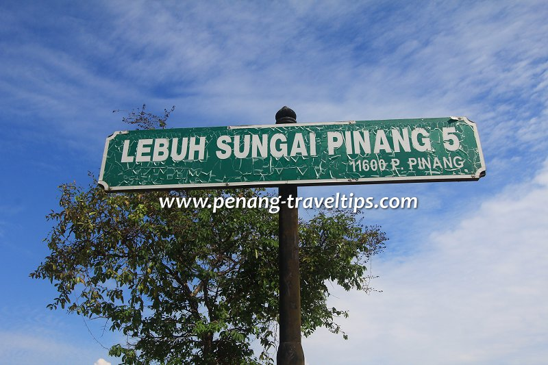 Lebuh Sungai Pinang 5 roadsign