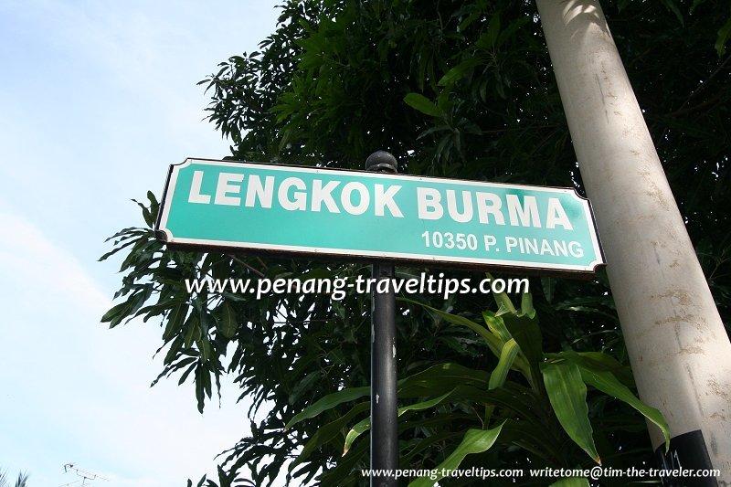 Lengkok Burma roadsign