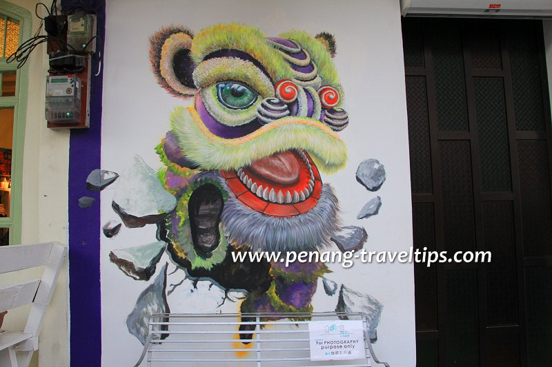 Completed Lion Dance mural