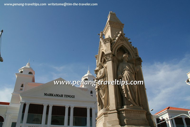 Logan Memorial, with the Penang Supreme Court in the background