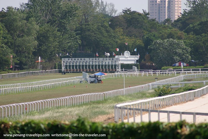 The racecourse at the Penang Turf Club