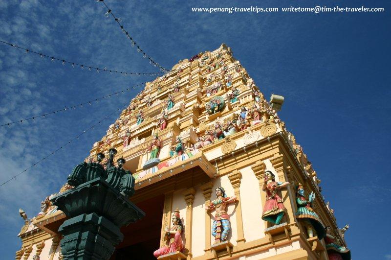 The rajagopuram of Arulmigu Karumariamman Temple