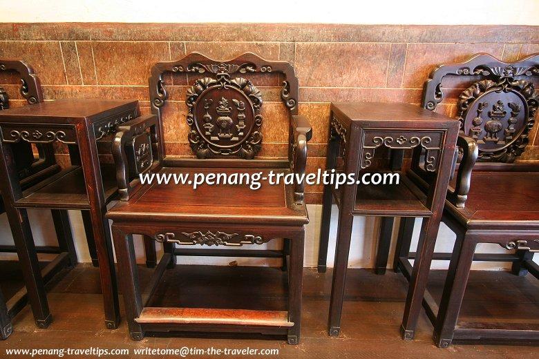 Rosewood furniture at Hock Teik Cheng Sin Temple
