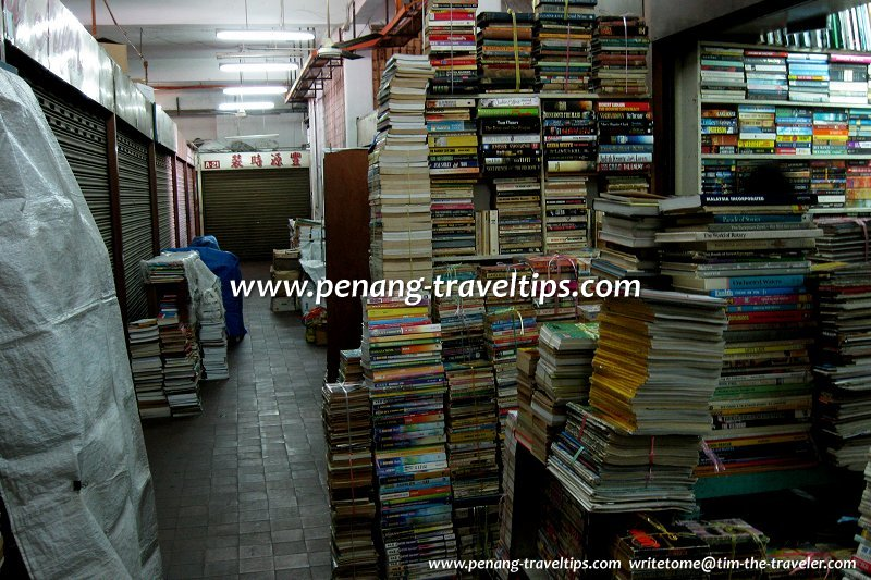 Books galore at the second-hand bookshops of Chowrasta Market