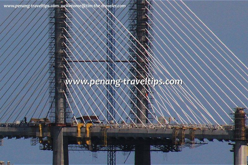 Second Penang Bridge, main span closeup