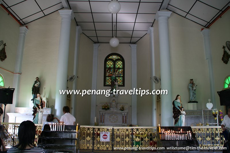 The interior of the Shrine of St Anne