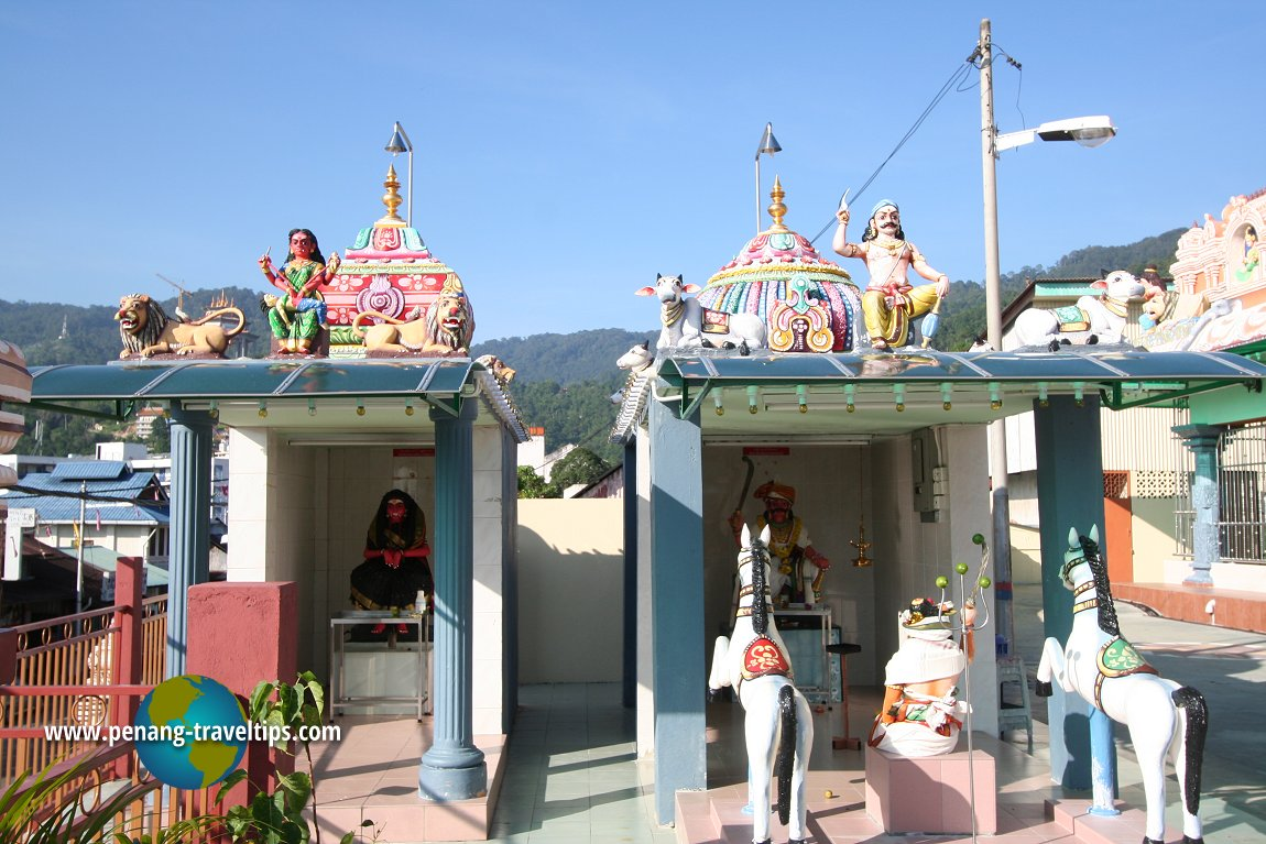 Shrines within the Air Itam Mahamariamman Temple