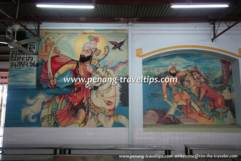 Sikh Gurdwara murals