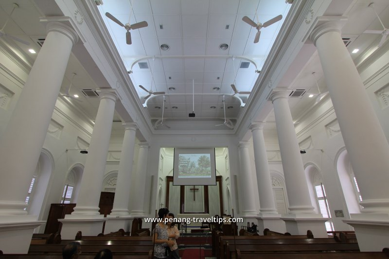 Interior of St George's Church, after the 2011 restoration