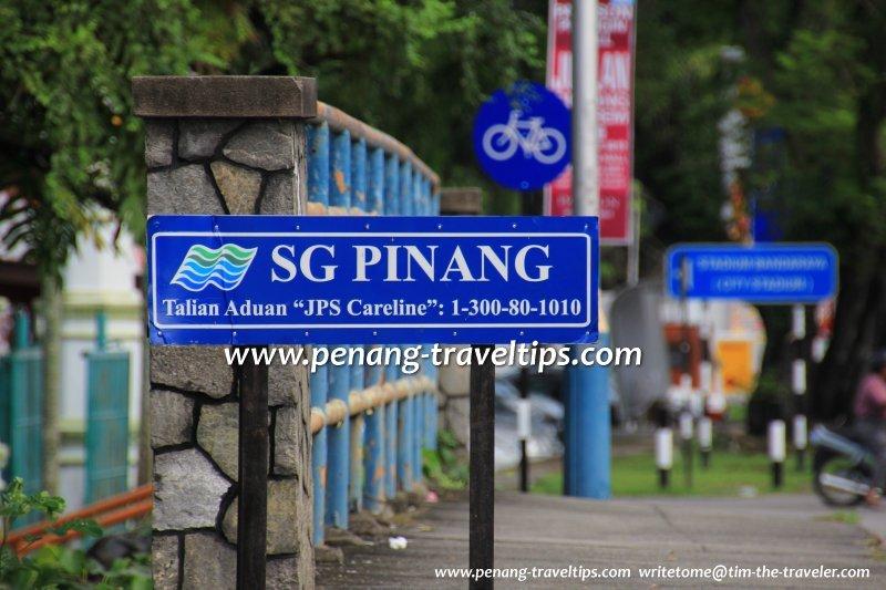 Sungai Pinang signboard