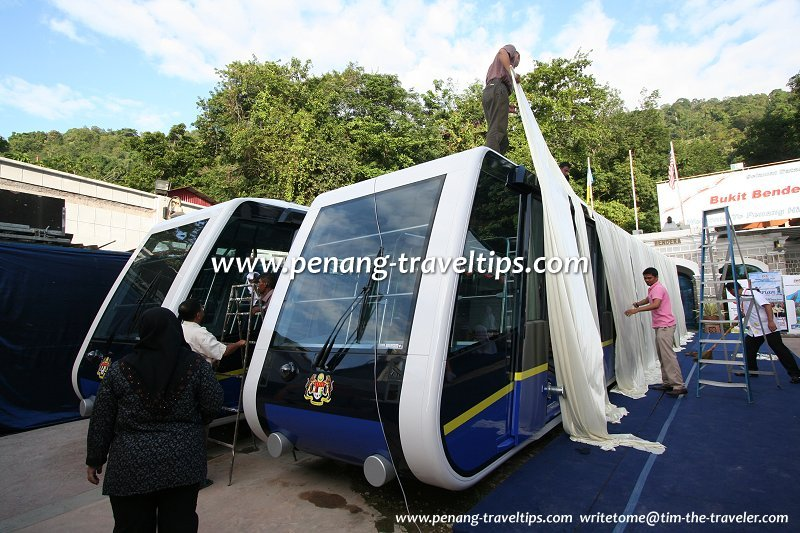 Unveiling of the new Penang Hill coaches